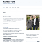 The old MattLovett.co.uk design
